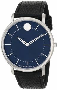 [モバード]Movado 腕時計 TC Swiss Quartz Watch With Textured BlackLeather Strap 0606846 メンズ [並行輸入品]