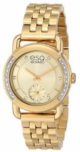 [イーエスキューモバード]ESQ Movado ESQ Classica Analog Display Swiss Quartz Gold 07101465