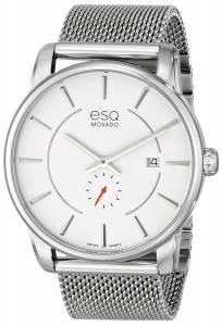 [イーエスキューモバード]ESQ Movado ESQ Capital SilverTone Stainless Steel Watch 07301466