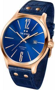 [ティーダブルスティール]TW Steel 腕時計 Slim Line Blue Dial Blue Leather Watch TW1305 メンズ [並行輸入品]