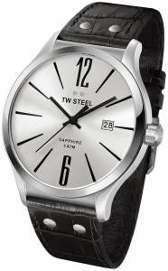[ティーダブルスティール]TW Steel 腕時計 Slim Line Silver Dial Black Leather Watch TW1301 メンズ [並行輸入品]
