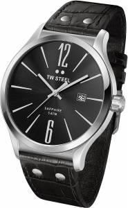 [ティーダブルスティール]TW Steel 腕時計 Slim Analog Display Quartz Black Watch TW1300 ユニセックス [並行輸入品]
