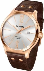[ティーダブルスティール]TW Steel 腕時計 Slim Line Silver Dial Brown Leather Watch TW1304 メンズ [並行輸入品]