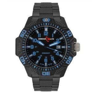 [アーマーライト]Armourlite 腕時計 Blue Caliber Series Tritium Watch Black Steel Band AL621 blau [並行輸入品]