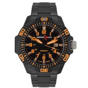 [アーマーライト]Armourlite Orange Caliber Series Tritium Polycarbon Watch Black AL622 orange