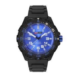 [アーマーライト]Armourlite Isobrite T100 Valor Series Black and Blue Watch Black ISO311