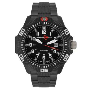 [アーマーライト]Armourlite 腕時計 Caliber Series Polycarbon Tritium Watch Black Steel Band AL632 weiß [並行輸入品]