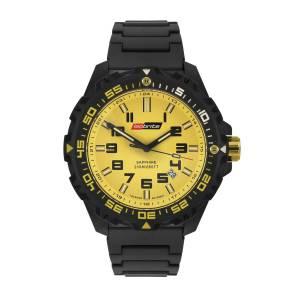 [アーマーライト]Armourlite Isobrite T100 Valor Series Black and Yellow Watch Black ISO313