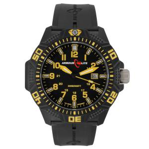 [アーマーライト]Armourlite Yellow Caliber Series Polycarbon Tritium Watch Black AL614 gelb
