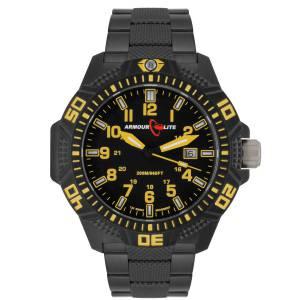 [アーマーライト]Armourlite Yellow Caliber Series Polycarbon Tritium Watch Black AL624 gelb