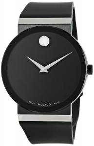 [モバード]Movado 腕時計 Sapphire Synergy Stainless Steel Watch with Black Rubber Band 0606780 メンズ [並行輸入品]