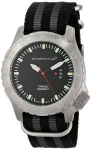 [モーメンタム]Momentum 腕時計 Torpedo Analog Display Japanese Quartz Black Watch 1M-DV74B7S メンズ [並行輸入品]