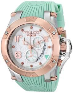 [マルコ]MULCO GoldTone Stainless Steel Watch with Turquoise Silicone Band MW5-2029-423