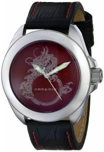 [アンドロイド]Android Tattooed Dragon 2035 Analog Display Japanese Quartz Black Watch AD782AR