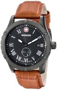 [ウェンガー]Wenger AmazonExclusive Grenadier Stainless Steel Watch with Brown Leather 71000