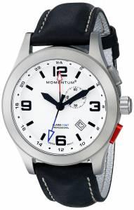 [モーメンタム]Momentum 腕時計 Vortech GMT Analog Display Swiss Quartz Black Watch 1M-SP58L2B メンズ [並行輸入品]