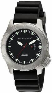 Momentum Men's 1M-DV74B1B TORPEDO Analog Display Japanese Quartz Black Watch