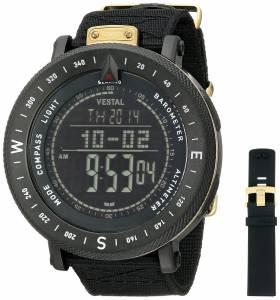 [ベスタル]Vestal 腕時計 Guide Stainless Steel Watch with Black Nylon Band GDEDP06 メンズ [並行輸入品]