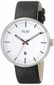 [ベスタル]Vestal 腕時計 Roosevelt Stainless Steel Watch with Black Leather Band ROS3L008 メンズ [並行輸入品]