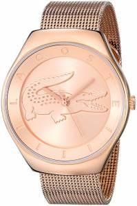 [ラコステ]Lacoste 腕時計 Valencia Analog Display Japanese Quartz Rose Gold Watch 2000872 レディース [並行輸入品]