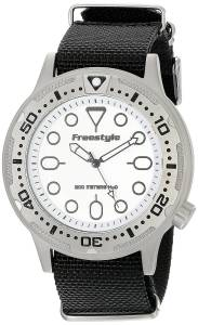 [フリースタイル]Freestyle Ballistic Dive Analog Display Japanese Quartz Black Watch 10017242