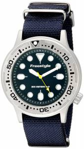 [フリースタイル]Freestyle Ballistic Dive Analog Display Japanese Quartz Blue Watch 10019174
