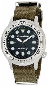 [フリースタイル]Freestyle Ballistic Dive Analog Display Japanese Quartz Black Watch 10019173
