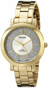 [パルサー]Pulsar 腕時計 Everyday Value Analog Display Japanese Quartz Gold Watch PG2002X レディース [並行輸入品]