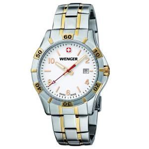 [ウェンガー]Wenger 腕時計 Platoon Blue Dial, BiColorBracelet 0941.105 [並行輸入品]