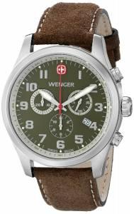 [ウェンガー]Wenger 腕時計 Amazon-Exclusive Stainless Steel Watch with Brown Leather Band 71001 メンズ [並行輸入品]