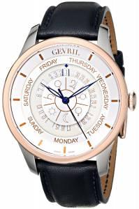 [ジェビル]Gevril Columbus Circle Stainless Steel and GoldPlated Automatic Watch with Blue 2003