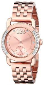 [イーエスキューモバード]ESQ Movado Classica Analog Display Swiss Quartz Rose 07101464