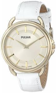 [パルサー]Pulsar 腕時計 Watch with White Leather Band PM2136 レディース [並行輸入品]