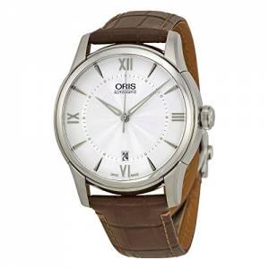 [オリス]Oris  Artelier Automatic Silver Dial Brown Leather Watch 733 7670 4071 07 5 21 70FC