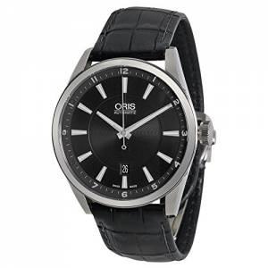 [オリス]Oris 腕時計 Artix Date Automatic Black Dial Black Leather Watch 733-7642-4034LS メンズ [並行輸入品]