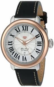 [グラムロック]Glam Rock Bal Harbour TwoTone Stainless Steel Watch with Black Leather GR77047