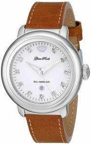 [グラムロック]Glam Rock Bal Harbour Stainless Steel DiamondAccented Watch with Brown GR77016