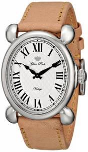 [グラムロック]Glam Rock  Vintage Glam Stainless Steel Watch with Beige Leather Band GR28005