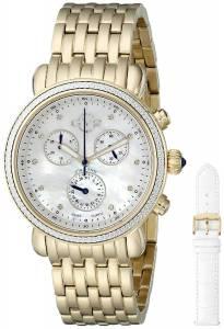 [ジェビル]GV2 by Gevril Marsala GoldPlated Stainless Steel Watch With Interchangable Bands 9802