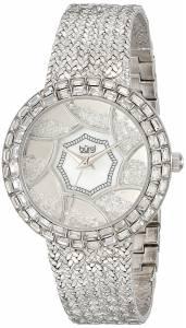 [バージ]Burgi 腕時計 Stainless Steel Watch with Textured Link Bracelet BUR118SS レディース [並行輸入品]