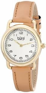 [バージ]Burgi 腕時計 GoldTone Watch with Genuine Leather Strap BUR121TN レディース [並行輸入品]
