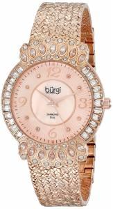 [バージ]Burgi 腕時計 Rose GoldTone Watch with Textured Bracelet BUR120RG レディース [並行輸入品]