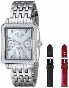 [ジェビル]GV2 by Gevril 腕時計 Bari Multi Analog Display Swiss Quartz Silver Watch Set 9210 レディース [並行輸入品]