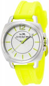 [コーチ]Coach 腕時計 14502132 Boyfriend Yellow Silicon Rubber Strap Watch 34mm W1362 BIX WMN レディース [並行輸入品]