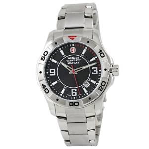 [ウェンガー]Wenger 腕時計 Alpine Swiss Army Black Dial Watch Steel Bracelet 79139 メンズ [並行輸入品]