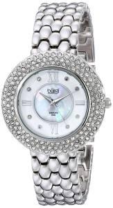 [バージ]Burgi 腕時計 Crystal and DiamondAccented Stainless Steel Watch BUR125SS レディース [並行輸入品]