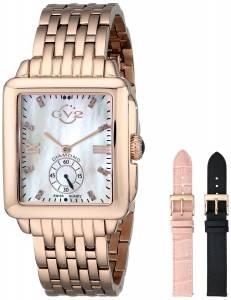 [ジェビル]GV2 by Gevril Bari DiamondAccented Rose GoldTone Watch with Interchangeable Bands 9202