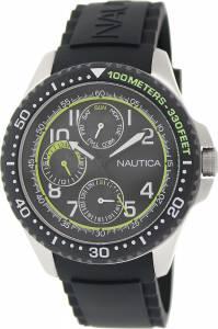 [ノーティカ]Nautica 腕時計 NSR 200 Multifunction Silicone Black watch N13687G メンズ [並行輸入品]