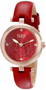 [バージ]Burgi 腕時計 Analog Display Japanese Quartz Red Watch BUR128RD レディース [並行輸入品]