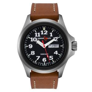 [アーマーライト]Armourlite 腕時計 Officer Series Watch Black Dial Brown Leather Band AL821 [並行輸入品]